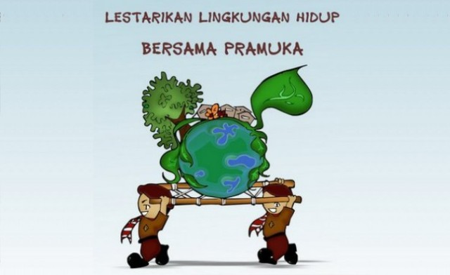 Lietarikan Lingkunga Hidup bersama Pramuka